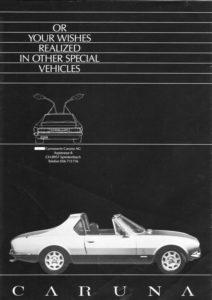 Prospekt Peugeot 504 V6 Targa Caruna